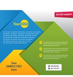 brochure2 vector image vector image