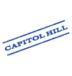 Capitol hill watermark stamp vector