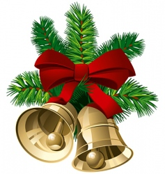 Christmas bells vector image vector image