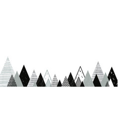 Christmas winter landscape background abstract vector