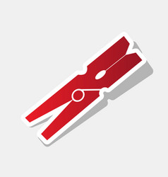clothes peg sign new year reddish icon vector image