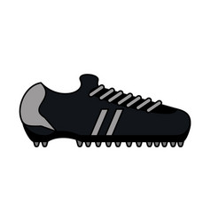 Color image cartoon soccer shoes sport equipment vector