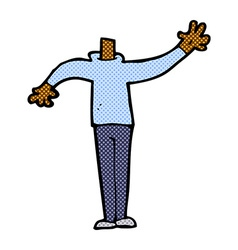 Comic cartoon male gesturing body mix and match vector