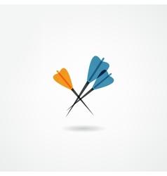 darts icon vector image vector image