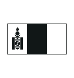 Flag of mongolia monochrome on white background vector