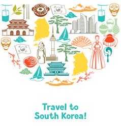Korea background design korean traditional vector