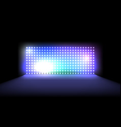 Light led projection panel vector