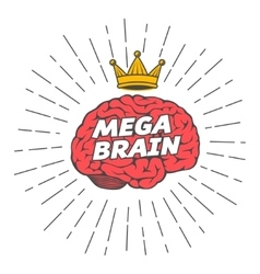 Mega brain king vector
