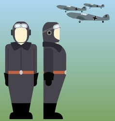 Military pilots of the wehrmacht in world war ii vector