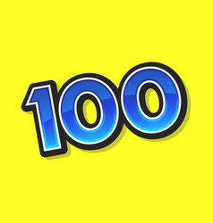 Number 100 vector