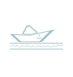 Paper Boat Symbol vector image vector image