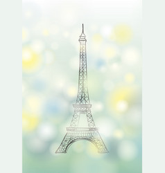 paris spring background eiffel tower travel vector image vector image