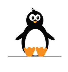 penguin color vector image vector image