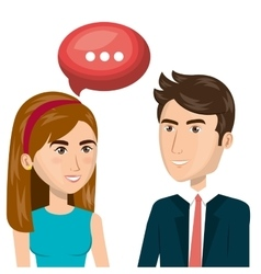 People talking communication icon vector