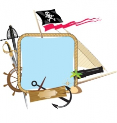 pirate frame vector image vector image