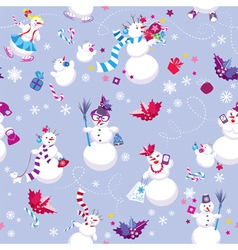 Seamless pattern for New Year or Christmas holiday vector image vector image