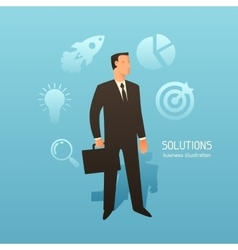 Solution business conceptual with vector image