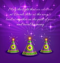 Stylish card of diwali vector