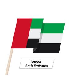 United arab emirates ribbon waving flag isolated vector