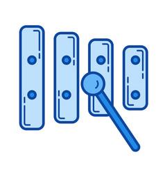 xylophone line icon vector image