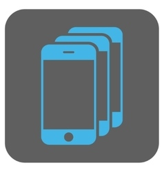 Mobile phones rounded square icon vector
