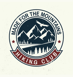 Made for the mountain vector