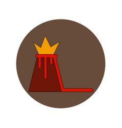 in flat design of volcano vector image