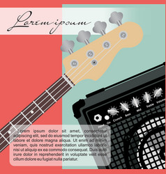 Guitar and speaker vector