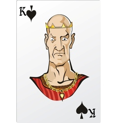 King of spade deck romantic graphics cards vector