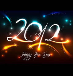 2012 new years banner vector image vector image