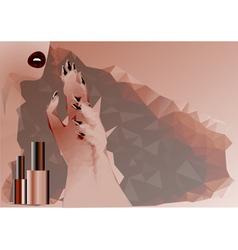 abstract woman and nail polish vector image