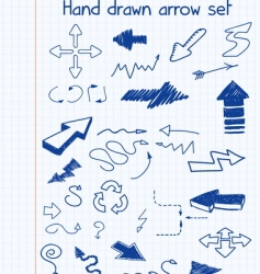 Hand drawn arrow set vector