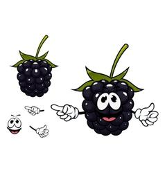 Funny ripe blackberry fruit character vector