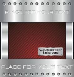 metallic fiber background vector image