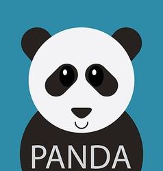 Cute Panda bear cartoon flat icon avatar vector image
