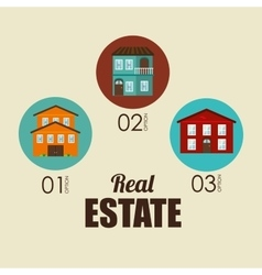 Urban city and real estate design vector