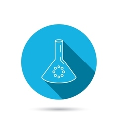 Laboratory bulb or beaker icon chemistry sign vector
