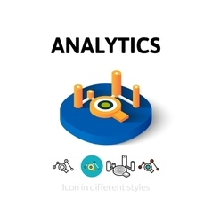 Analytics icon in different style vector