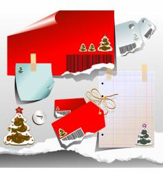 Christmas tags and notes vector image