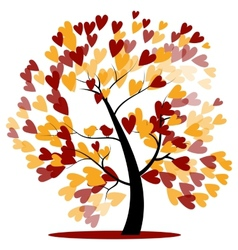 Autumn wedding tree vector image