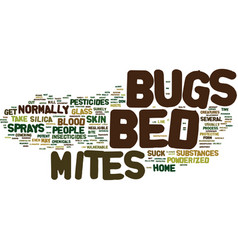 Bed bugs pictures text background word cloud vector