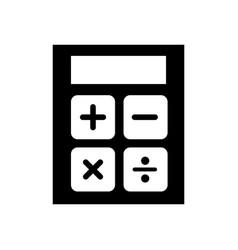 black icon calculator cartoon vector image