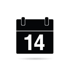 Calendar icon on a white vector
