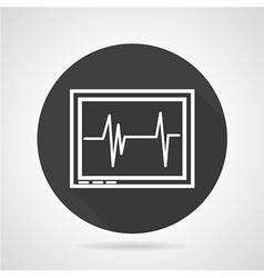 Cardiogram black round icon vector image