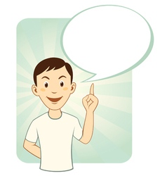 Cartoon Man With Speech Bubble vector image