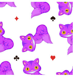 Cheshire cat pattern vector