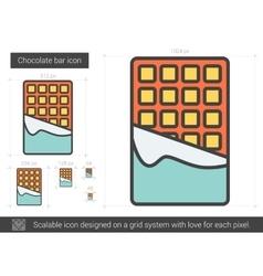 Chocolate bar line icon vector image vector image