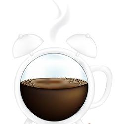 Coffee Cup Alarm Clock vector image