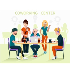 coworking center vector image vector image
