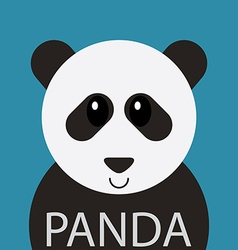 Cute Panda bear cartoon flat icon avatar vector image